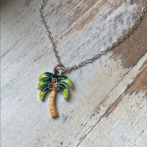 Other - Palm tree necklace with monkey jewelry box NEW